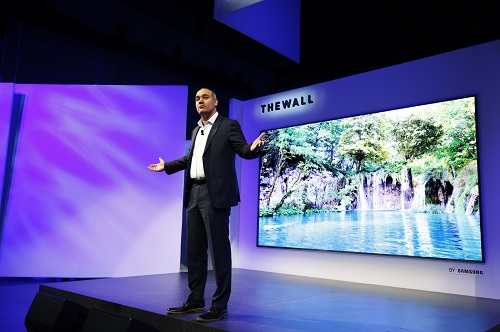 Samsung CES 2018, First Look Event at Enclave on Sunday, Jan. 7, 2018 in Las Vegas. (Photo by Danny Moloshok/Invision for Samsung/AP Images)