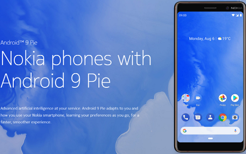 Android 9 Pie Nokia 3.1
