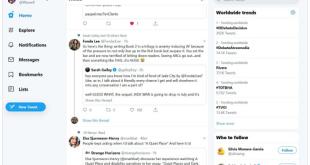 تويتر Twitter تطلق تصميمًا جديدًا لمنصتها عبر الويب