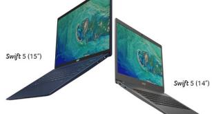 آيسر تطرح أجهزة الحاسوب المحمول Swift 5 وSwift 3 المجهزة بمعالجات Intel Core